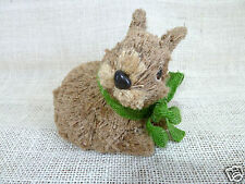 "Natural Sisal Easter Bunny Rabbit with Grass Green Bow, 4.50""H, Pier 1!"