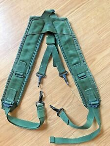 US Military Alice Y SUSPENDERS LBE Load Bearing Shoulder Web Harness OD GC