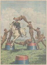 K0176 Singolare salto a cavallo di un ufficiale inglese  - Stampa - 1931 print