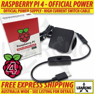 Raspberry Pi 4 Model B Official Power Supply + On / Off Switch    4B USB-C USBC