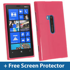 Pink Glossy TPU Gel Case for Nokia Lumia 920 Windows Skin Cover Shell Holder