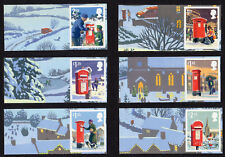 2018 CHRISTMAS SMILERS Set of Six SINGLE LITHO STAMPS + LABELS (labels vary)