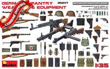 Miniart 35247 WWII German Infantry Weapons & Equipment plastic model kit 1/35
