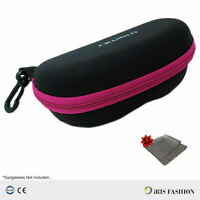 HOT NEW Portable Zipper Eye Glasses Sunglasses Clam Shell Hard Case Protector US