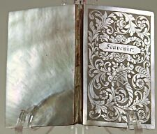Antique French Engraved Pearl Necessaire, Carnet du Bal or Aide Memoire