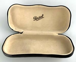 Persol Sunglasses Eyeglasses Case Only Brown Hardcase Clamshell Small