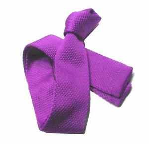 CRAVATTA uomo Maglia TRICOT viola tinta unita cravatte di maglia viola in 24 ore