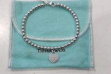 Tiffany & Co. Silver Small Beads Heart Bracelet 17.5cm