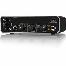 Behringer U-Phoria UMC22 Studio Recording USB Audio Interface Mac PC