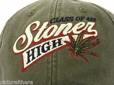 Weed Baseball Cap Class of 420 Stoner High Hat Marijuana Mary Jane MJ Pot Ganja
