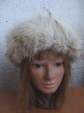"BRAND NEW NATURAL FOX & COYOTE FUR HEADBAND HEAD WRAP LENGTH 22"""