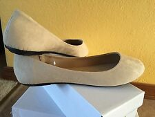 Shoes Women Flats Ballerina Nude Tan Color  Suede Size 10 Easy