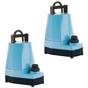 Little Giant 5 MSP 1/6 HP 1200 GPH Submersible or Inline Utility Pump (2 Pack)