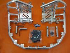 Honda TRX 250R 88-89  Nerf Bars  Pro Peg  Alba Racing  silver black 255 T7 SB