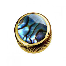NEW Q-Parts Dome Knob - NATURAL ABALONE SHELL on GOLD - KGD-0006 Guitar & Bass