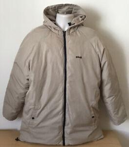 Vintage SCHOTT NYC Mens Winter Hooded Down Jacket | Size Medium M | Beige
