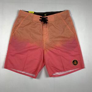 Body Glove Mens Pink And Orange Swim Shorts Summer Beach Swimwear Size L/34