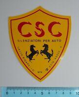 ADESIVO AUFKLEBER STICKER AUTOCOLLANT AUTO TUNING CSC ANNI '80 VINTAGE 11x9 cm
