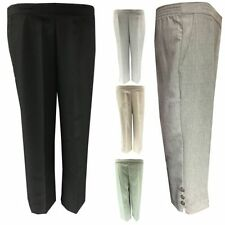 Unbranded Plus Size Mid Capri, Cropped Trousers for Women