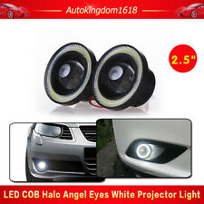 2xCar Fog Light COB LED Projector White Angel Eye Halo Ring DRL Driving Bulb 20W