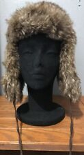 MOSSIMO Supply Brown Faux Fur Cold Weather Trapper Hat One Size EUC