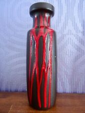 Scheurich 200 28 Vase Keramik Keramikvase 70er Dracula glaze lava WGP midcentury