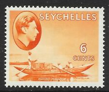 SEYCHELLES SG137 1938  6c ORANGE MTD MINT