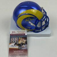 Autographed/Signed AARON DONALD Los Angeles Rams Speed Mini Helmet JSA COA Auto