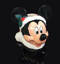 RARE Disney Mickey Mouse Santa Clause Christmas Tealight Candle Holder *EUC*