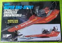 KIT - RUPP SUPER SNOW SPORT - WORLDS FIRST DRAGSTER SNOWMOBILE SEALED 1/20
