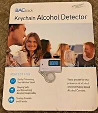New Breathalyzer Bactrack Keychain Alcohol Detector - White, comes with battery