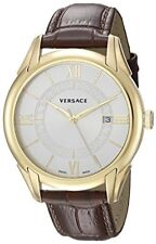 Versace Men's V10030015  'APOLLO' Swiss Quartz Stainless Steel and Leather Watch