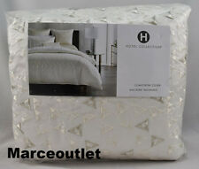 Hotel Collection Gilded Geo Embroidered KING Duvet Cover Off White