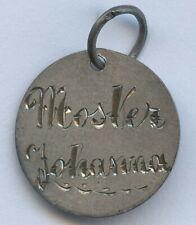 Norway Engraved Silver 10 Ore Love Token Coin Pendant Charm Nice Grade !