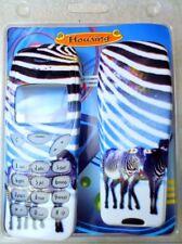 """Nokia 3210 Cover Motiv """"Zebra"""" / Ober- und Unterschale, Tastaturmatte"""