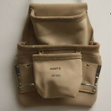 NEW KUNY'S AP-493 TOP GRAIN LEATHER 6 POCKET TOOL BELT POUCH NEW IN PACKAGE SALE