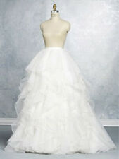 2643 ALFRED ANGELO  SAPPHIRE WHITE SZ 10 $695 WEDDING GOWN SKIRT