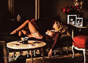 1974 Vintage HELMUT NEWTON Semi Female Nude Bourgeoise Paris Photo Engraving Art