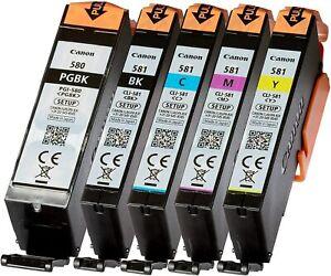 5 X Original Canon PGI-580 CLI-581 Multipack Pixma TR8550 TR7550 TS6150 TS8150