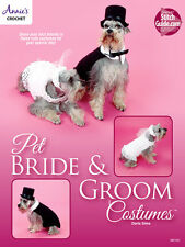 Pet Bride & Groom Costumes Annies Attic Crochet Pattern Booklet Best Dressed Pet