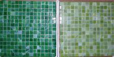"""Backsplash Tile Green Glass Tile Mosaic Tiles Wall Bath Kitchen 13"""" x 13"""""""