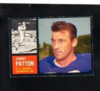 9435* 1962 Topps # 112 Jimmy Patton EX