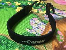 Black Adjustable Soft Neck Shoulder Strap For Canon DSLR Camera