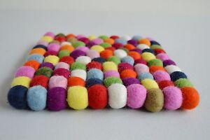 Pom Felt Balls Wool Handmade Choose Beads Craft Quantity Coaster Mix Nepal 20cms
