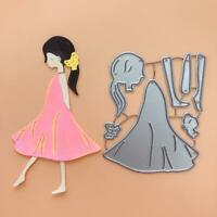 Melancholy Girl Metal Cutting Dies Stencil Scrapbooking DIY Album Stamp Emboss