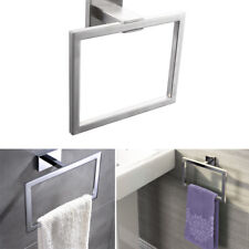Stainless Steel Bathroom Square Double Towel Rail With Rack Bath Towel Holder