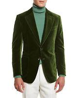 Men Elegant Luxury Stylish Designer Green Smoking Jacket Party Wear Blazer