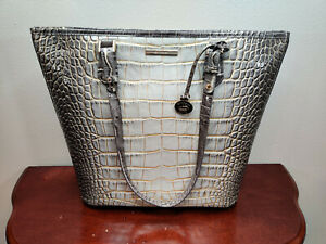 NWT New Brahmin Handbag Asher Tote Bag in Sterling Miravet Style
