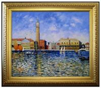 Framed Hand Painted Oil Painting Repro Renoir The Doges Palace, Venice 20x24in