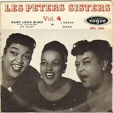 """LES PETER SISTERS """"SAINT LOUIS BLUES"""" VOCAL JAZZ 50'S EP  VOGUE 7483"""